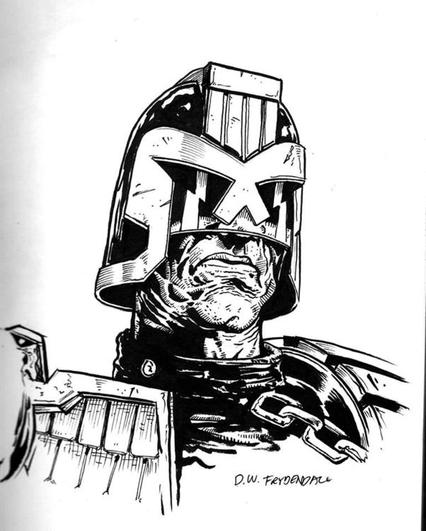 Judge Dredd - penink, judgedredd - dwfrydendall   ello