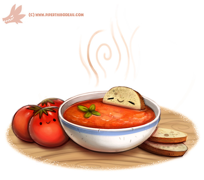 Daily Paint Tomato Soup - 1083. - piperthibodeau | ello