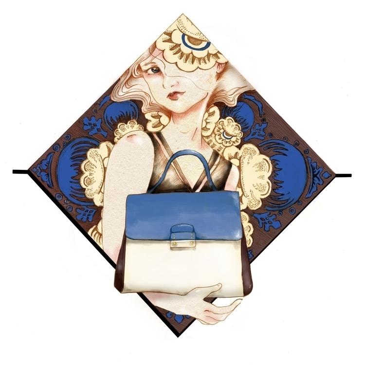 Fashion illustration Mime bag - drawing - saradevi | ello