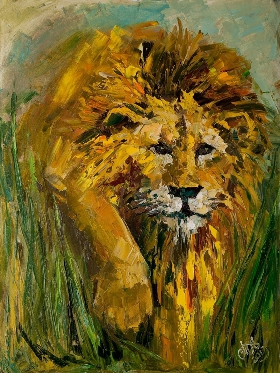 King beasts 80x60 Oil canvas. 2 - tanya_vasilenko | ello