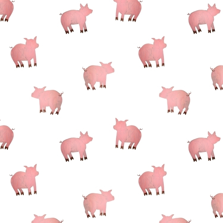 Pigs - pig, animal, children'sillustration - prianikn | ello