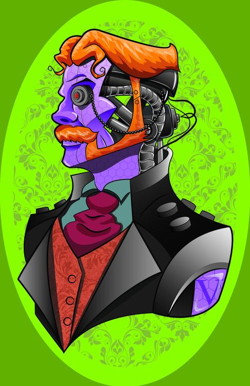 Classy Robot - illustration, digitalart - jimmyedwards | ello