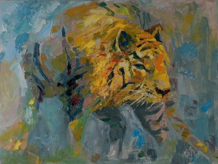 Crouching tiger 60x80 Oil canva - tanya_vasilenko | ello