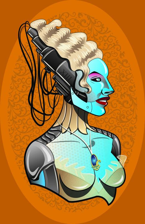 Classy Robot Lady - illustration - jimmyedwards   ello