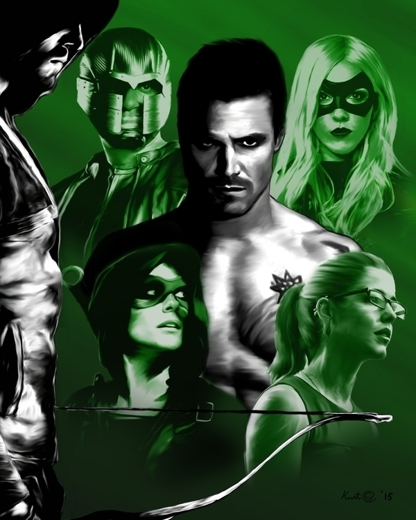 arrow, cw, fanart, illustration - kurtg_art | ello