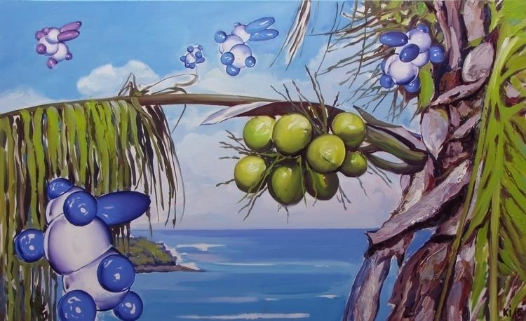 coconut island - painting, gameart - igorkonovalov | ello