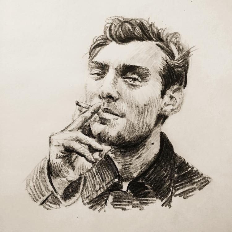 Jude Law - portrait, pencil, pencildrawing - prianikn | ello