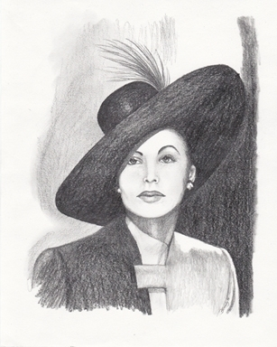 'Ava Gardner - drawing - brandyhouse | ello