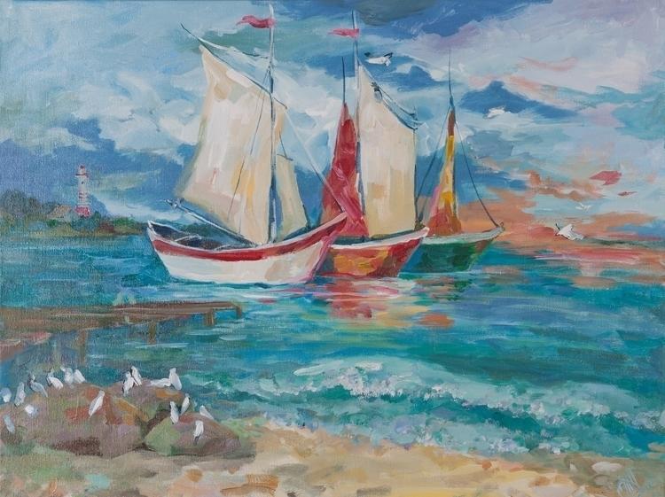 Sea voyage 60x80 Acrylic canvas - tanya_vasilenko | ello