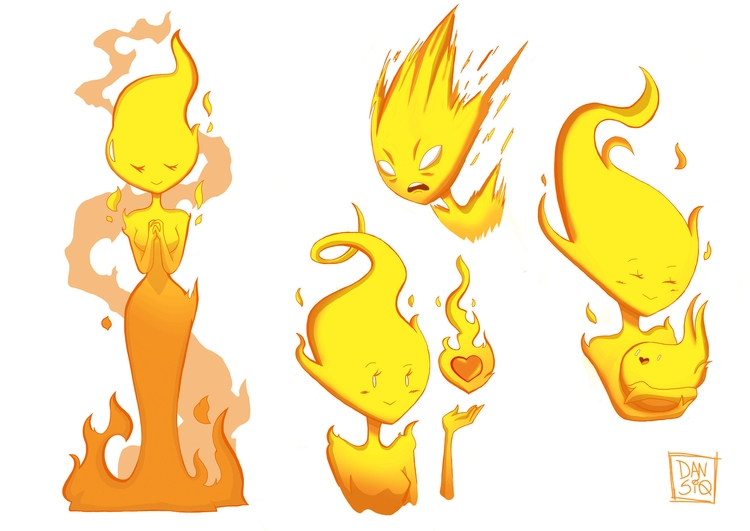 Fire (Character 2minds Studio - illustration - dansiqueira | ello