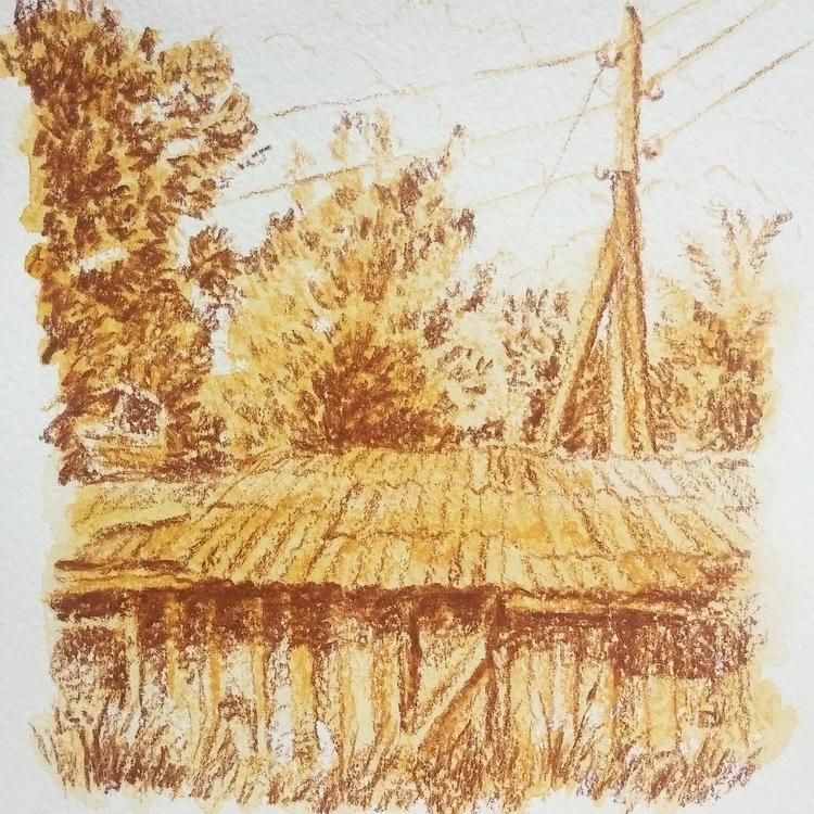 Barns - pencil, coloredpencil, landscape - prianikn | ello