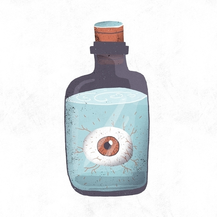 Eye bottle - illustration, eyes - rfortes | ello