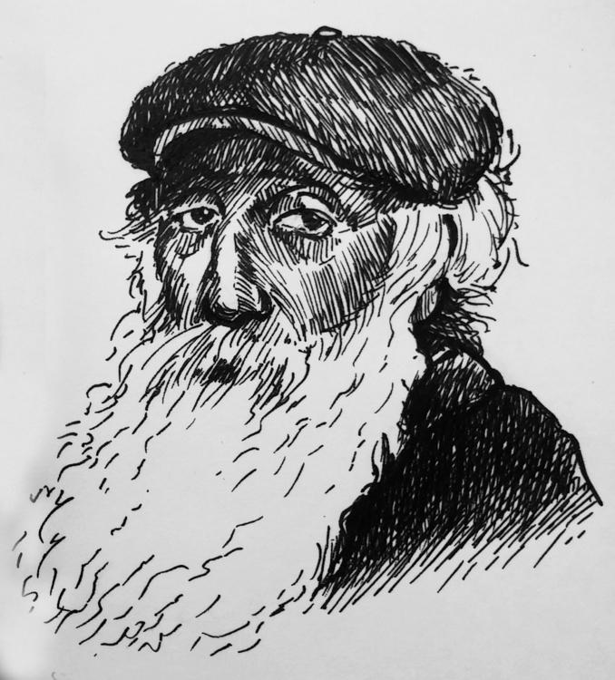 Camille Pissarro - fineliner, portrait - prianikn | ello