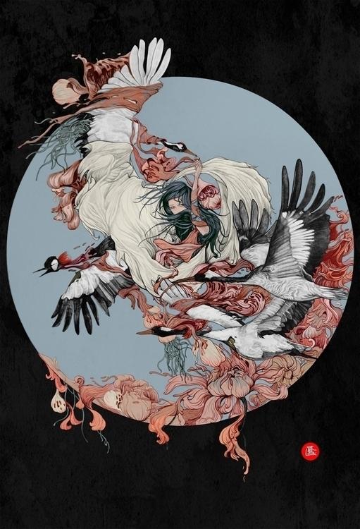 Life Blossom - illustration, painting - runbo | ello