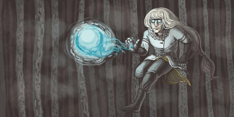 Strange Wizard - wizard, digitalpainting - catalinajuarros | ello