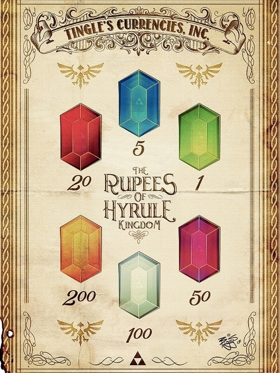 Vintage Rupees Hyrule Advertise - barrettbiggers | ello