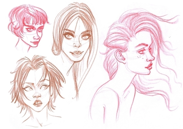 girls, drawing - pam-1887   ello