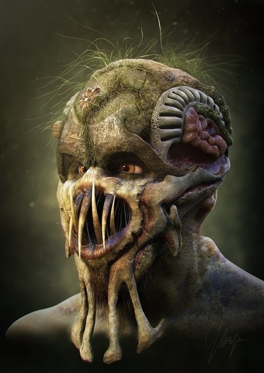 Creature concept sculpted rende - hasenjager | ello