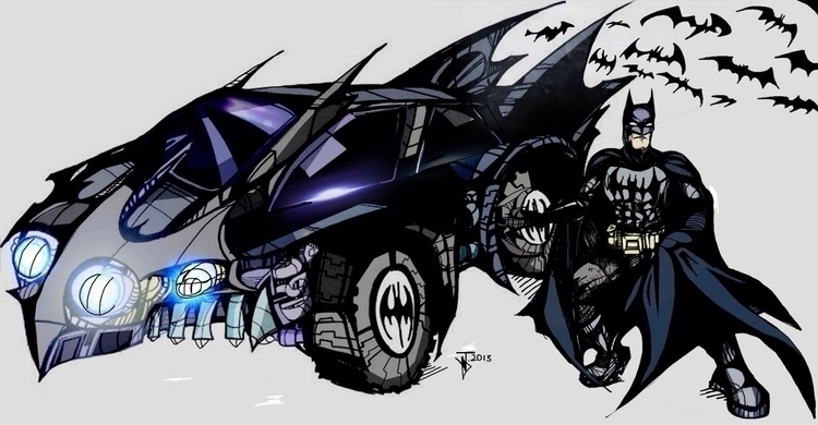 Batman Parking - batman, batmobile - jeremieduval | ello
