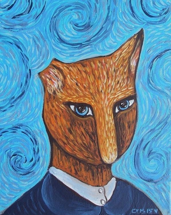 Kitty Van Gogh - ArtCats, Modernimpressionisticfolkart - cristinegreen | ello