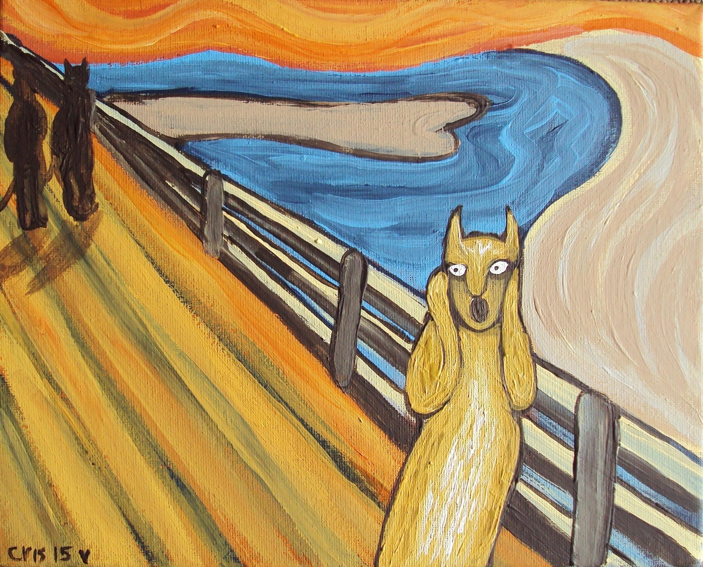 Scream Cat - edvardmunch, modernimpressionisticfolkart - cristinegreen | ello