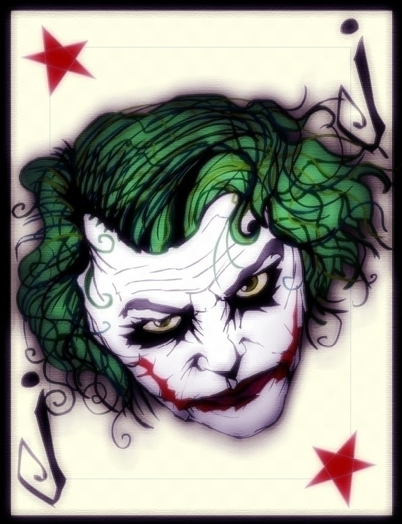 joker card - batman, dccomics - jeremieduval | ello