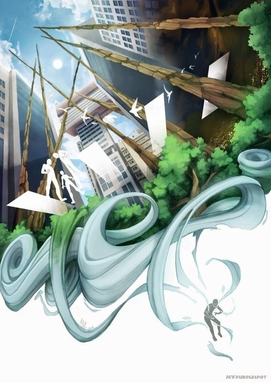 Escape - illustration, digitalart - mvpurplespot | ello