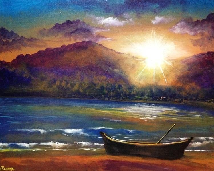 Palolem Beach Acrylic Canvas 16 - simonraskina | ello