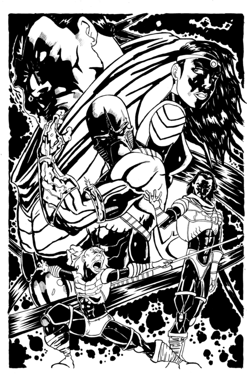 Soul Eraser issue 2 cover inks - ehernand1 | ello