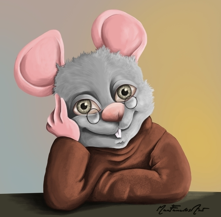 "DAY 9 - mouse""(color version - illustration - marfandosart | ello"