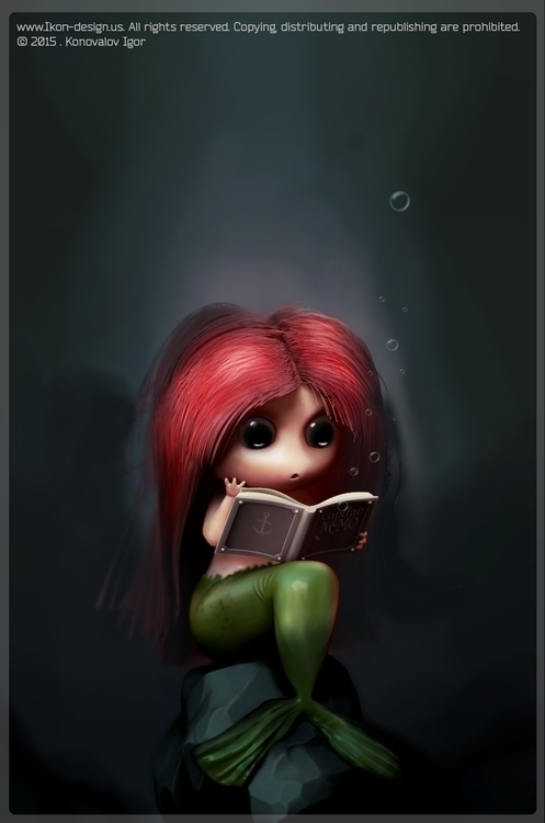 Ariel - illustration, conceptart - ikon-7344 | ello