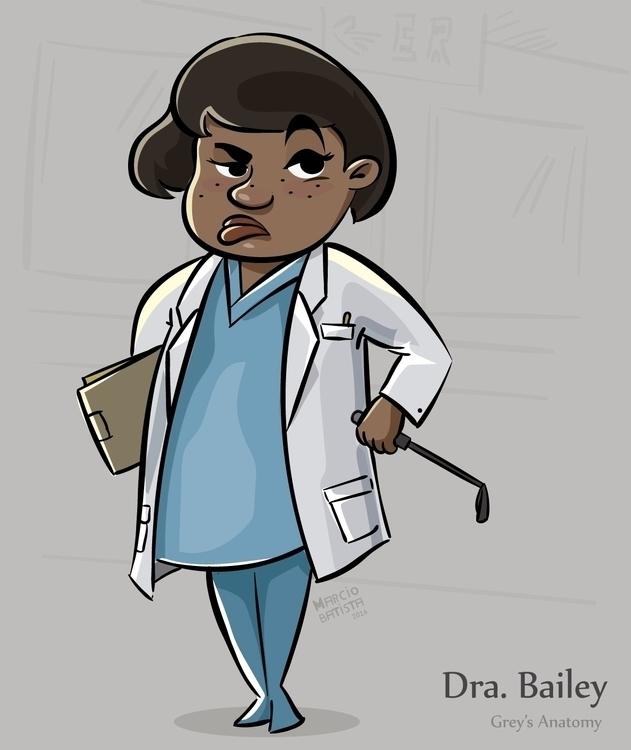 Dra. Bailey - illustration, fanart - marciobatista | ello