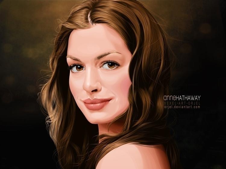 Anne Hathaway Fan Art - illustration - orjel   ello