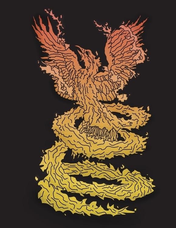 Phoenix rising swirl - digitalart - torresj | ello