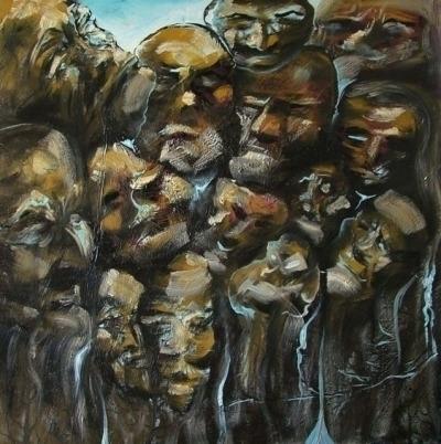 Mass VI - painting, oiloncanvas - nandor-4565 | ello