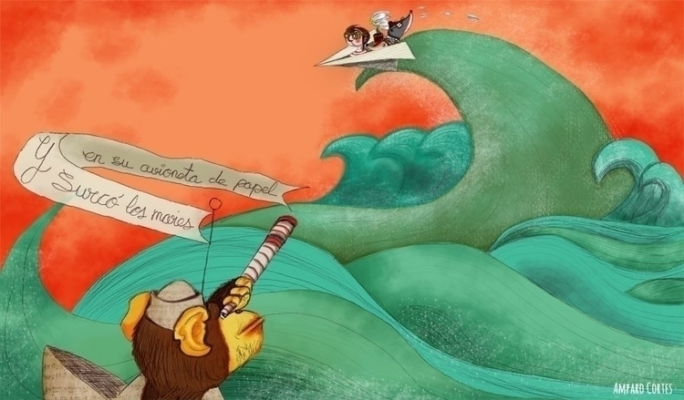 illustration, drawing, children'sillustration - amparocortes   ello