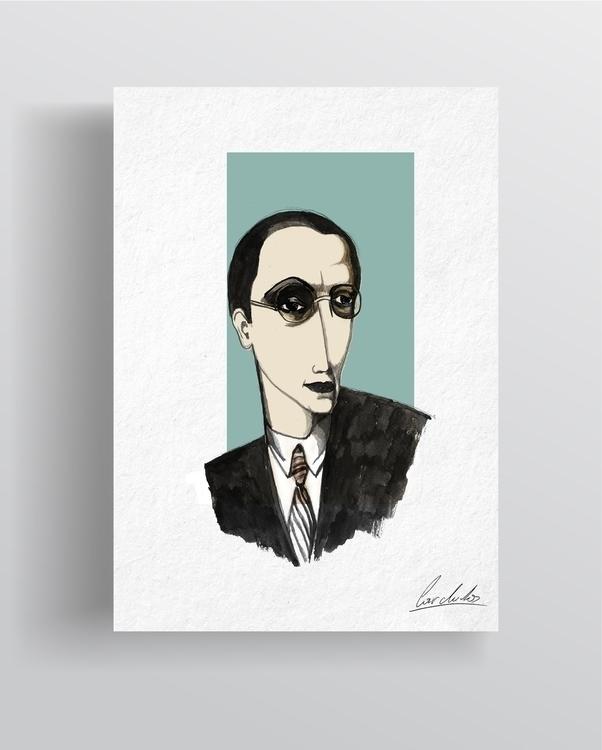 Ink portraits Tamamra de Lempic - cardula   ello