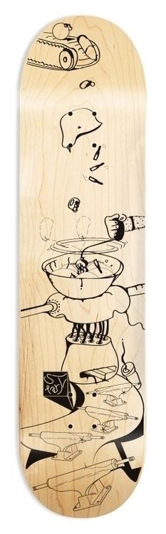 Skateboard illustration - skateboard - amfremantle | ello