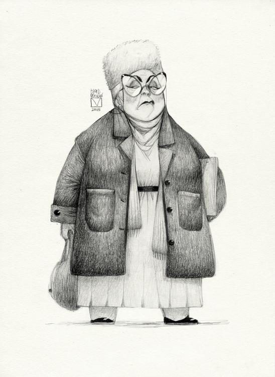 Sketchtober | 017 - granny, grampy - blad_moran | ello