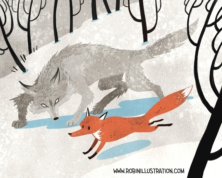 Red Fox Gray Wolf - redfox, graywolf - robinrobinsonia | ello