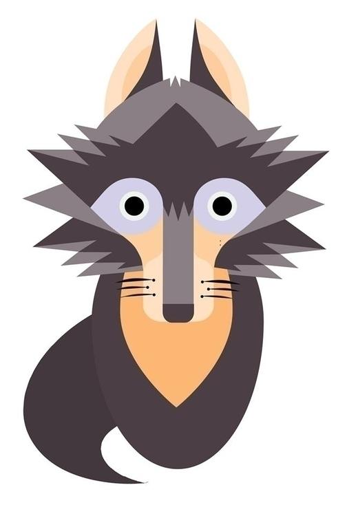 Wolf - wolf, wolfy, polygon, ilustracion - amparocortes | ello