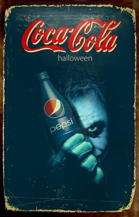 Halloween theme Coca Cola poste - cardula   ello