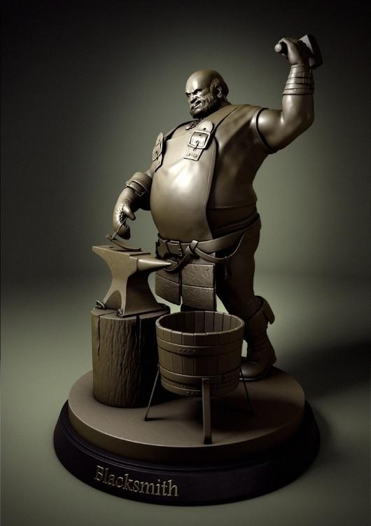 Blacksmith - characterdesign, 3d - rlouro | ello
