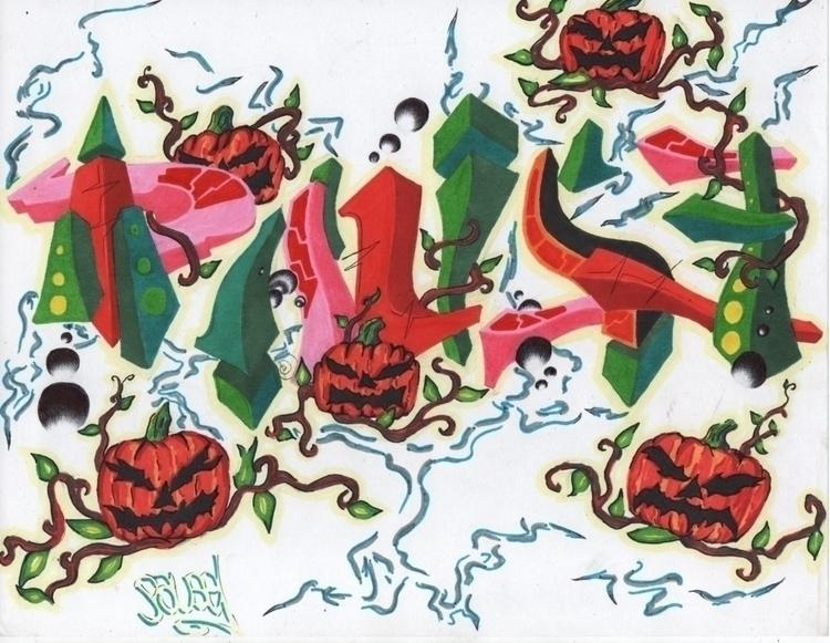 Happy Halloween Pause CBS - graffiti,urban,street,character - pausecbs | ello