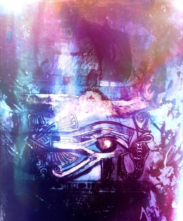 Wedjat - Eye Horus lilac edit - digitalart - schuzannamidnight | ello