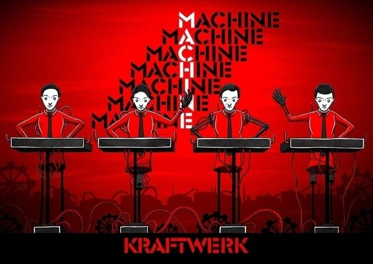 Personal illustration - music, robots - siclark | ello