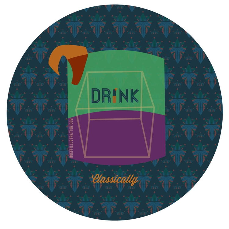 Drink Classically - illustration - alexhoeffner-7715 | ello