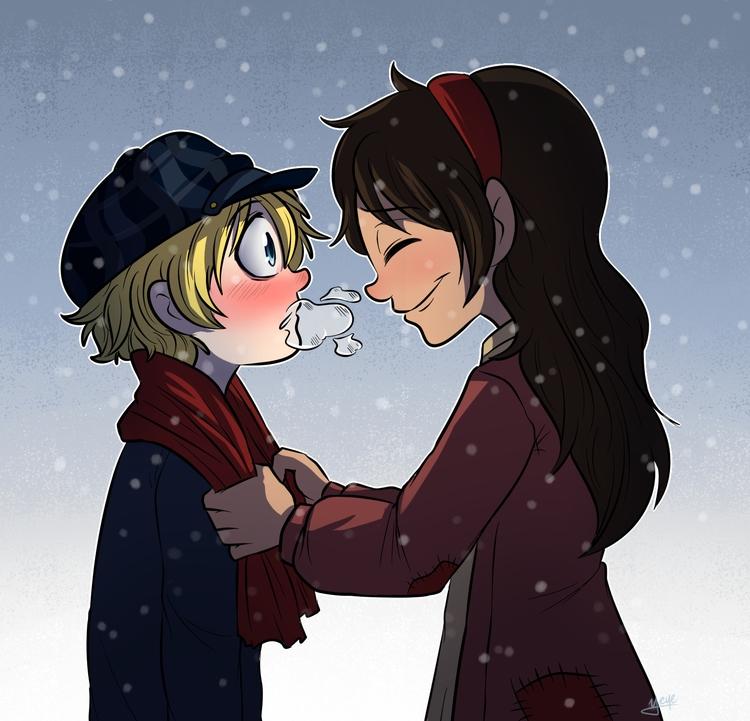 Winter finally - illustration, cartoon - yeyeliz | ello