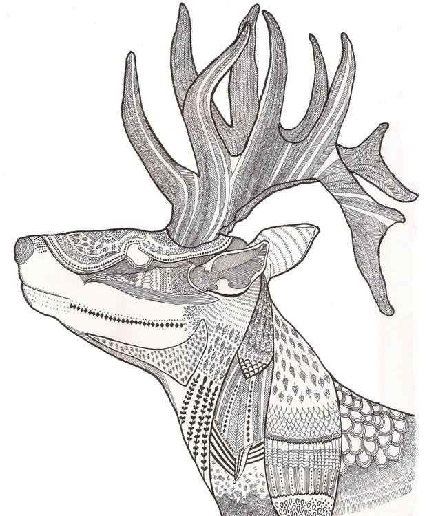 Forest Spirit - nature, animal, deer - polkip | ello