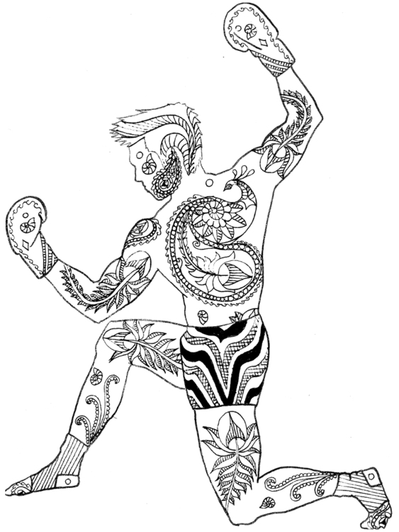 Victory Pose - illustration, drawing - ipaintkickboxers | ello